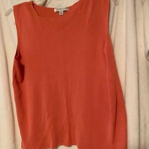 Orange Sleeveless Knit Top Size XL
